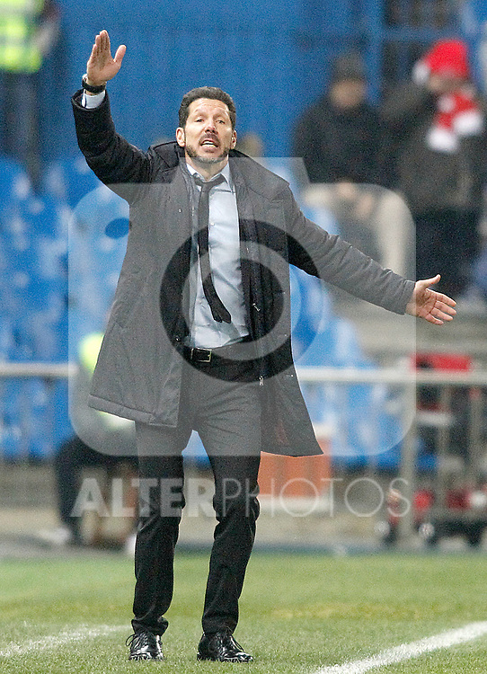 Atletico de Madrid's coach Diego Pablo Simeone during Spanish Kings Cup match. January 27,2016. (ALTERPHOTOS/Acero)