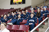 The University of Maine Black Bears watch some of the BC men's game before taking on the BC women. - The Boston College Eagles defeated the visiting St. Francis Xavier University X-Men 8-2 in an exhibition game on Sunday, October 6, 2013, at Kelley Rink in Conte Forum in Chestnut Hill, Massachusetts.
