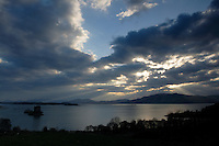 Castle Stalker and Loch Linnhe at dusk, Appin, Argyll & Bute<br /> <br /> Copyright www.scottishhorizons.co.uk/Keith Fergus 2011 All Rights Reserved