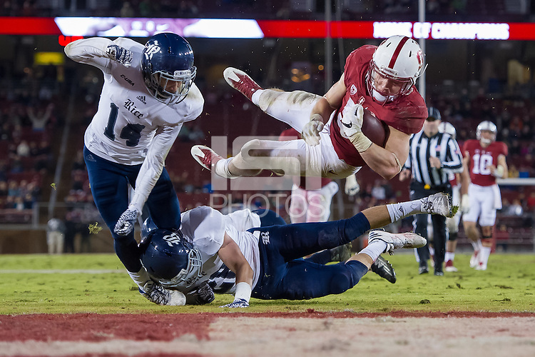 Stanford, CA - November 26, 2016: Christian McCaffrey during the Stanford vs Rice football game at Stanford Stadium. The Cardinal defeated the Owls 41-17.
