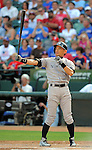 Ichiro Suzuki (Yankees),<br /> JULY 22, 2013 - MLB :<br /> Ichiro Suzuki of the New York Yankees at bat during the Major League Baseball game against the Texas Rangers at Rangers Ballpark in Arlington in Arlington, Texas, United States. (Photo by AFLO)