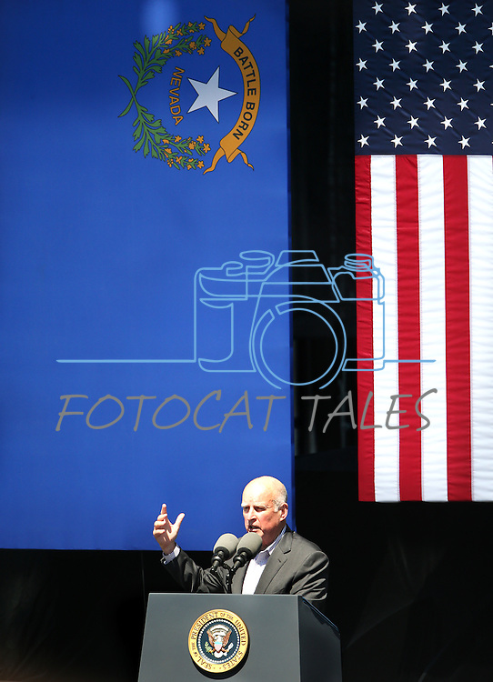 California Gov. Jerry Brown  speaks at the 20th annual Tahoe Summit in Stateline, Nev., on Wednesday, Aug. 31, 2016. Pres. Barack Obama was the keynote speaker at the event which focuses attention on protecting Lake Tahoe. Cathleen Allison/Las Vegas Review-Journal