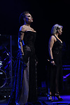 """Alyson Cambridge and Chloe Lowery during the Broadway Opening Night Performance Curtain Call of  """"Rocktopia"""" at The Broadway Theatre on March 27, 2018 in New York City."""