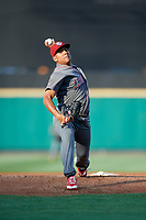 Lehigh Valley IronPigs starting pitcher Ranger Suarez (40) delivers a pitch during a game against the Rochester Red Wings on June 29, 2018 at Frontier Field in Rochester, New York.  Lehigh Valley defeated Rochester 2-1.  (Mike Janes/Four Seam Images)