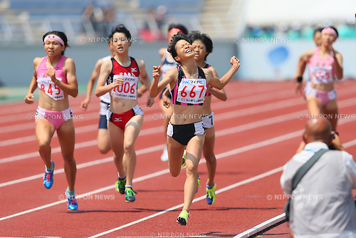 Chika Mukai (), <br /> AUGUST 1, 2015 - Athletics : <br /> 2015 All-Japan Inter High School Championships, <br /> Women's 800m Final <br /> at Kimiidera Athletic Stadium, Wakayama, Japan. <br /> (Photo by YUTAKA/AFLO SPORT)