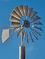 Windpump against blue sky