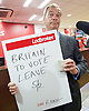 Nigel Farage MEP<br /> Leader of the UKIP Party <br /> arrives at Ladbrokes, Moorgate, City of London, Great Britain <br /> 2nd June 2016 <br /> <br /> to bet &pound;1000 on a Leave Europe result in the referendum <br /> <br /> <br /> Photograph by Elliott Franks <br /> Image licensed to Elliott Franks Photography Services