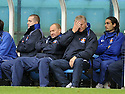24/10/2009  Copyright  Pic : James Stewart.sct_jspa06_kilmarnock_st_johnstone  . :: JIM JEFFIRES AND AN UNHAPPY LOOKING KILMARNOCK BENCH :: .James Stewart Photography 19 Carronlea Drive, Falkirk. FK2 8DN      Vat Reg No. 607 6932 25.Telephone      : +44 (0)1324 570291 .Mobile              : +44 (0)7721 416997.E-mail  :  jim@jspa.co.uk.If you require further information then contact Jim Stewart on any of the numbers above.........