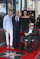 Hollywood, CA - November 06 Cameron Douglas, Michael Douglas, Catherine Zeta-Jones, Kirk Douglas, Attends Michael Douglas Honored With Star On The Hollywood Walk Of Fame on November 06, 2018. <br /> CAP/MPI/FS<br /> &copy;FS/MPI/Capital Pictures