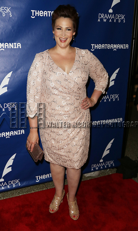 Lisa Howard attends the 2015 Drama Desk Awards at Town Hall on May 31, 2015 in New York City.