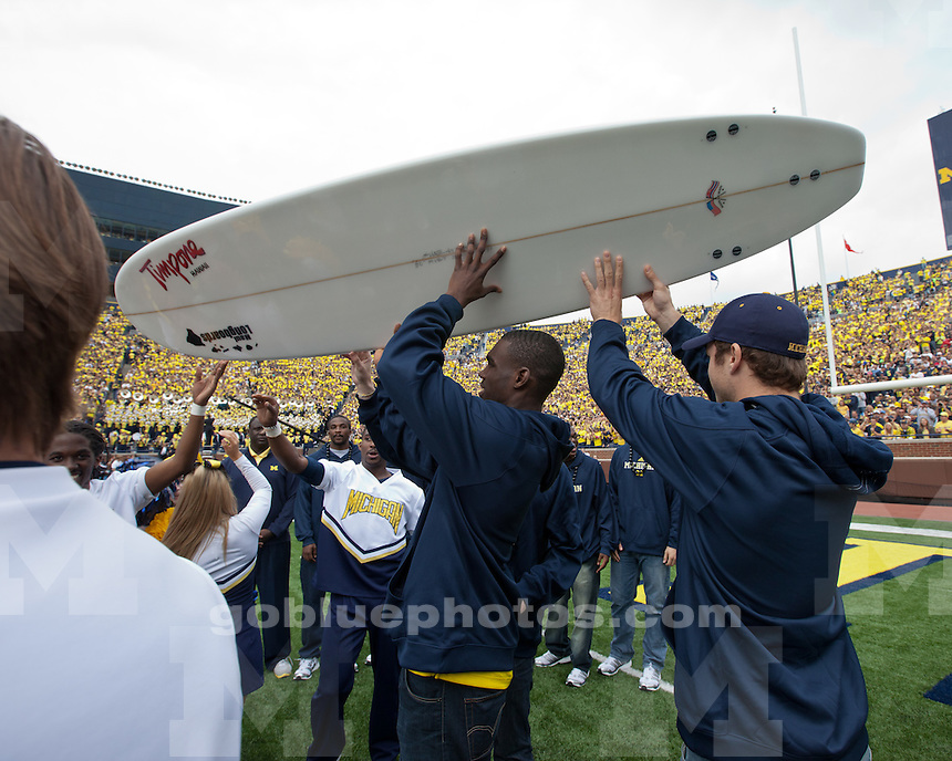 The University of Michigan football team beat San Diego State University 28-7 at Michigan Stadium in Ann Arbor, Mich., on September 24, 2011..