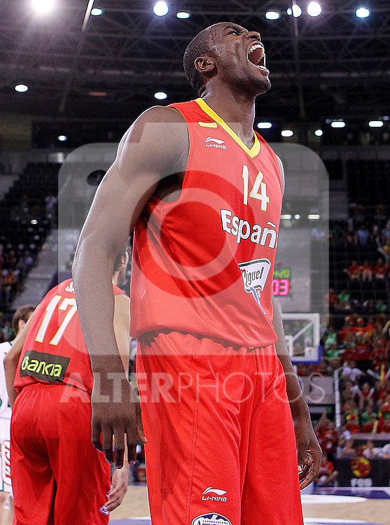 Spain's Serge Ibaka during friendly match.August 13,2011. (ALTERPHOTOS/Acero)