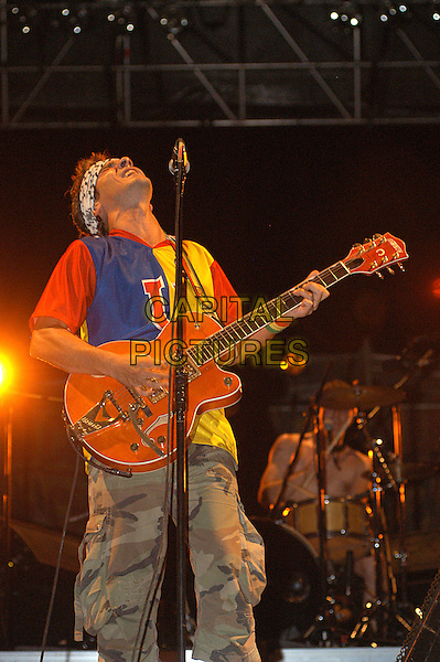 MANU CHAO.Perform live at Park of the Aqueducts, Rome, Italy..July 11th, 2006.Ref: CAV.full length concert gig performance music guitar .www.capitalpictures.com.sales@capitalpictures.com.© Capital Pictures.
