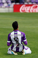 Real Valladolid´s Guerra celebrates a goal during La Liga match against Sevilla. March 28, 2010. (ALTERPHOTOS/Víctor J Blanco)