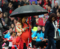 Pictured: Heavily pregnant wife of Wayne Rooney, Coleen. Sunday 12 May 2013<br /> Re: Barclay's Premier League, Manchester City FC v Swansea City FC at the Old Trafford Stadium, Manchester.