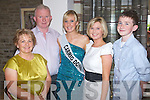 The healy family supporting Hemma Healy contestant at the 2009 Kerry Rose Selection at the Earl of Desmond Hotel, Tralee on Saturday night from left Aileen, Stephen, Gemma, Aisling and Cian..