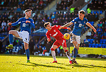 23.02.2020 St Johnstone v Rangers: Ianis Hagi with Jamie McCart and Jason Kerr