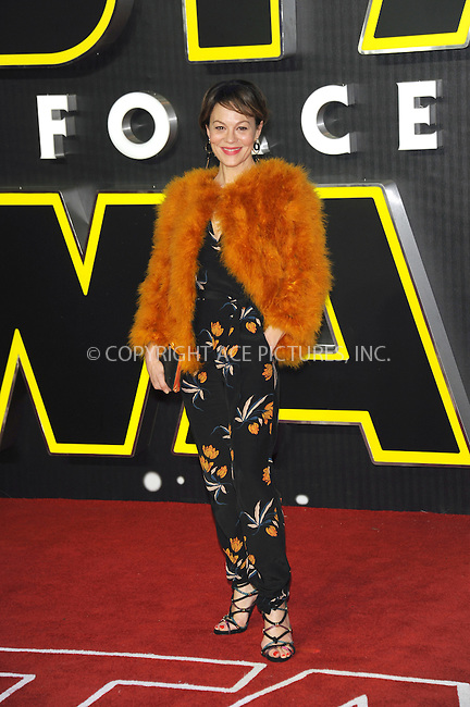 WWW.ACEPIXS.COM<br /> <br /> December 16 2015, London<br /> <br /> Helen McCrory arriving at the European Premiere of 'Star Wars: The Force Awakens' in Leicester Square on December 16, 2015 in London, England.<br /> <br /> By Line: Famous/ACE Pictures<br /> <br /> <br /> ACE Pictures, Inc.<br /> tel: 646 769 0430<br /> Email: info@acepixs.com<br /> www.acepixs.com