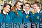 Students from Mounthawk Secondary Tralee, pictured at the Mental Wellness Exhibition on Monday, were l-r: Nicole Leahy, Cliona Leen, Emma Moynihan and Lucy Kelly..