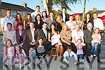 BABY JOY: Little Dean Moriarty with his proud parents Jason Moriarty and Yvonne Flaherty Ballyvalley, celebrating his Christening with a large group of family and friends at Kerins O'Rahillys clubhouse on Saturday front l-r: Sarah Dunwort, Kelly Sam and Hayley Donovan, Tarice Flaherty and Shona McEvoy. Seated l-r: Freddie, Abbie, Joe and Jason Moriarty, Yvonne Flaherty, Dean Moriarty, Breda, Tim, and Joe Flaherty and Katey McEvoy. Back l-r: Fred Moriarty, Brenda Coughlan, Linda, Billy and Tanya Moriarty, Oliva Cuddy, Robert Moriarty, Christina Zebelyte, Sean Moriarty, Timmy Flaherty, Robbie McEvoy, Donna Coffey, Alice Moriarty and Ger Everett..   Copyright Kerry's Eye 2008