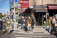 Restaurant on Allen Street in the Lower East Side neighborhood of New York on Sunday, October 27, 2013.  The hip neighborhood is no longer your grandmother's Lower East Side. (© Richard B. Levine)