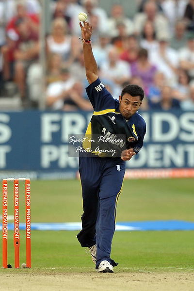 Danish Kaneria (Essex Eagles) bowls. Essex Eagles Vs Surrey Lions. Friends Provident t20. Ford County Ground. Chelmsford. Essex. 25/06/2010. Credit Sportinpictures/Garry Bowden
