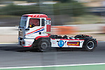 Spanish driver David Marco Bermejo belonging Spanish team David Marco Bermejo during the third race R3 of the XXX Spain GP Camion of the FIA European Truck Racing Championship 2016 in Madrid. October 02, 2016. (ALTERPHOTOS/Rodrigo Jimenez)