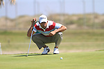 Pablo Larrazabal (ESP) in action on the 16th green during Day 3 Saturday of the Open de Andalucia de Golf at Parador Golf Club Malaga 26th March 2011. (Photo Eoin Clarke/Golffile 2011)