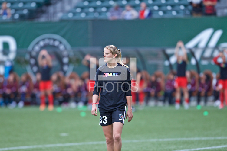 Portland, OR - Saturday June 17, 2017: Britt Eckerstrom during a regular season National Women's Soccer League (NWSL) match between the Portland Thorns FC and Sky Blue FC at Providence Park.