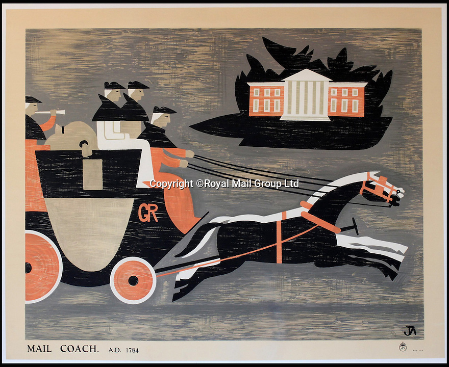 BNPS.co.uk (01202 558833)<br /> Pic: RoyalMailGroup/BNPS<br /> <br /> John Armstrong (1893-1973) Royal Mail AD 1784 poster.<br /> <br /> A one-of-a-kind sale of rare vintage posters could net the Post Office &pound;40,000 to put towards the building of a new museum dedicated to the service.<br /> <br /> In a bid to raise funds for the new British Postal Museum, curators sifted through the Royal Mail archives to find duplicates of advertising posters dating back to the 1930s that they could sell at auction.<br /> <br /> The resulting collection of more than 150 original posters are now going under the hammer at Onslows Auctions in Blandford, Dorset, in a sale the likes of which has never been held before.<br /> <br /> The proceeds will go towards the building of the new museum in Camden, London, which will feature part of the old Post Office Underground Railway - the Mail Rail - as a heritage attraction.