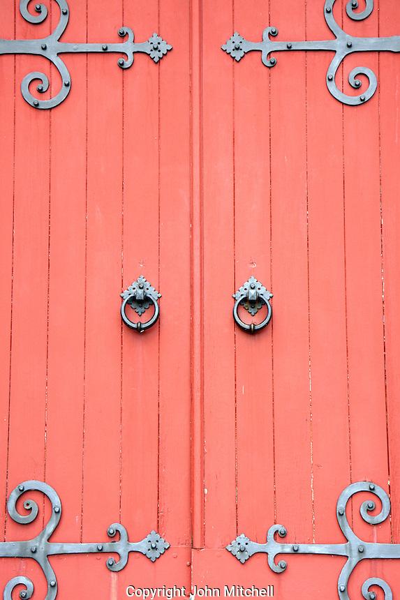 Door of the Canadian Memorial Church, Vancouver, BC, Canada