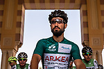 Race leader Green Jersey Nacer Bouhanni (FRA) Team Arkea Samsic ready to start Stage 5 of the Saudi Tour 2020 running 144km from Princess Nourah University to Al Masmak, Saudi Arabia. 8th February 2020. <br /> Picture: ASO/Kåre Dehlie Thorstad   Cyclefile<br /> All photos usage must carry mandatory copyright credit (© Cyclefile   ASO/Kåre Dehlie Thorstad)