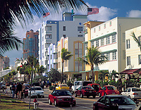 USA, Florida, Miami-Beach: art-deco-Viertel am Ocean Drive | USA, Florida, Miami-Beach: art-deco-district at Ocean Drive