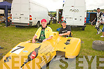 7 Yellow: Martin Murphy and Adrian Sugars  Abbeyfeale preparing for the F1  1000cc class
