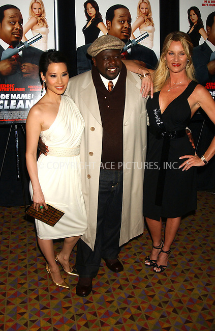 WWW.ACEPIXS.COM . . . . . ....January 4, 2007, New York City. ....Lucy Liu, Cedric The Entertainer and Nicollette Sheridan attend the Premiere of 'Code Name: The Cleaner'. ....Please byline: KRISTIN CALLAHAN - ACEPIXS.COM.. . . . . . ..Ace Pictures, Inc:  ..(212) 243-8787 or (646) 769 0430..e-mail: info@acepixs.com..web: http://www.acepixs.com