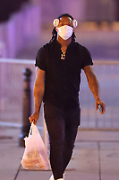 WASHINGTON, D.C. - SEPTEMBER 12: Ronald Acuna Jr. of Major League Baseball's Atlanta Braves, seen leaving Nationals Park after their win against the Washington Nationals during the Covid-19 pandemic-shortened season in Washington, D.C. on September 12, 2020. Credit: mpi34/MediaPunch