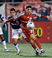 22 April 2009: Toronto FC forward Pablo Vitti #8 controls the ball at BMO Field in a MLS game between Chivas USA and Toronto FC. Toronto FC won 1-0. .