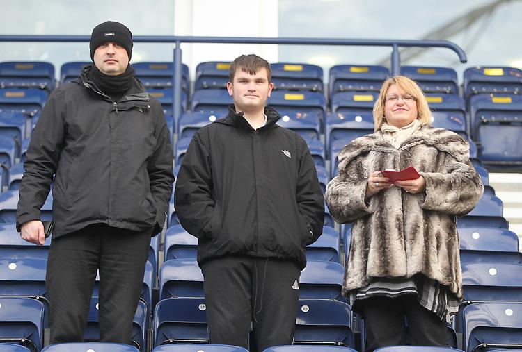 Preston North End's Fans<br /> <br /> Photographer Mick Walker/CameraSport<br /> <br /> Football - The FA Cup Fourth Round - Preston North End v Sheffield United - Saturday 24th January 2015 - Deepdale - Preston <br /> <br /> &copy; CameraSport - 43 Linden Ave. Countesthorpe. Leicester. England. LE8 5PG - Tel: +44 (0) 116 277 4147 - admin@camerasport.com - www.camerasport.com