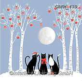 Kate, CHRISTMAS ANIMALS, WEIHNACHTEN TIERE, NAVIDAD ANIMALES, paintings+++++Under the Moon  2,GBKM439,#xa#