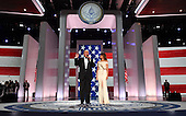 United States President Donald Trump, First Lady Melanie Trump, Vice-President Mike Pence and wife Karen, along with the Trump family attend the Freedom Inaugural Ball at the Walter E. Washington Convention Center on January 20, 2017 in Washington, D.C.  Trump will attend three inaugural balls.     <br /> Credit: Kevin Dietsch / Pool via CNP
