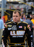 May 2, 2009; Richmond, VA, USA; NASCAR Sprint Cup Series driver Ryan Newman prior to the Russ Friedman 400 at the Richmond International Raceway. Mandatory Credit: Mark J. Rebilas-