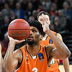 07.11.2018, ratiopharm arena, Neu-Ulm, GER, EC, ratiopharm ulm vs Roter Stern Belgrad, <br /> im Bild Dwayne Evans (Ulm, #3)<br /> <br /> Foto &copy; nordphoto / Hafner