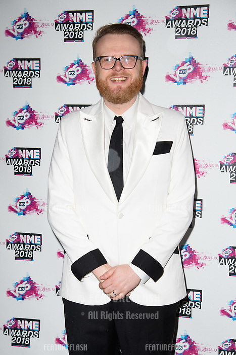 Huw Stephens at the VO5 NME Awards 2018 at the Brixton Academy, London, UK. <br /> 14 February  2018<br /> Picture: Steve Vas/Featureflash/SilverHub 0208 004 5359 sales@silverhubmedia.com
