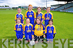 Tiernaboul National School Pictured Pictured front l-r  Erin Holland, Caoimhe Cloffer, Bertha Howe, Mairead O'Donoghue, Back l-r  Grainne Spillane, Megan Cronin, Emma Cronin, Orla Spillane at the Allianz Cumann Na mBunscol Girls finals at Austin Stacks Park Tralee on Tuesday
