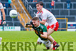 Gavin Crowley  Kerry in action against Darragh Canavan Tyrone during the Allianz Football League Division 1 Round 1 match between Kerry and Tyrone at Fitzgerald Stadium, Killarney on Sunday.