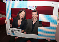 ***NO FEE PIC *** 05/06/2014 (L to R) Niamh Heery Director of Harmanli: Trapped on the Fringe of Freedom & Jury Member Nicky Phelan from Oscar-nominated animator at Brown Bag Films during the launch of the ICCL (Irish Council for Civil Liberties) Human Rights Film Awards Shortlist at the IFCO in Smith field, Dublin. Photo: Gareth Chaney Collins