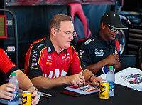 Sep 2, 2018; Clermont, IN, USA; NHRA top fuel driver Doug Kalitta during qualifying for the US Nationals at Lucas Oil Raceway. Mandatory Credit: Mark J. Rebilas-USA TODAY Sports