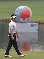 Yuta Ikeda (Asia) on the 3rd green during the Saturday Foursomes of the Eurasia Cup at Glenmarie Golf and Country Club on the 13th January 2018.<br /> Picture:  Thos Caffrey / www.golffile.ie