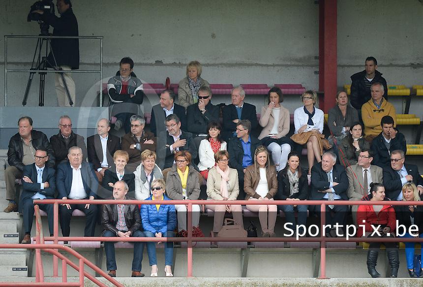 Finale Beker van West-Vlaanderen - SC Wielsbeke - SV De Ruiter : talrijk opgekomen publiek met de VIP tribune<br /> foto VDB / BART VANDENBROUCKE