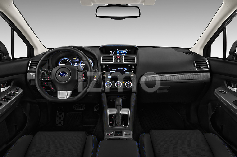 Stock photo of straight dashboard view of a 2017 Subaru Levorg GT-S Premium 5 Door Wagon
